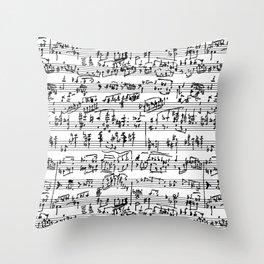 Hand Written Sheet Music Throw Pillow