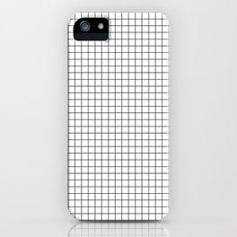 White Grid Black Line iPhone Case