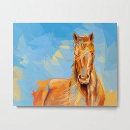 Obedient Spirit - Horse portrait Metal Print
