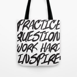 Practice, Question Tote Bag