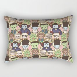 Kawaii Little Monsters Series 1 Pattern Print Rectangular Pillow