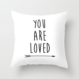 You Are Loved Printable Art, Nursery Art, Black and White Art, Arrow Art, You are So Loved Word Art, Throw Pillow