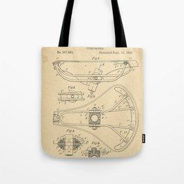 1896 Patent Bicycle saddle Tote Bag