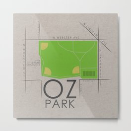 Chicago - Oz Park Metal Print