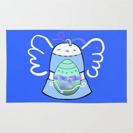 Blue Bell on Blue Rug