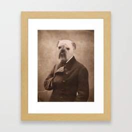 Distinguished Bulldog Framed Art Print