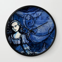 The Tempest - Miranda - Shakespeare Folio Illustration Wall Clock