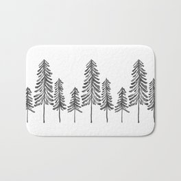 Pine Trees – Black Ink Bath Mat