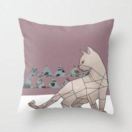 gemeowmetry Throw Pillow