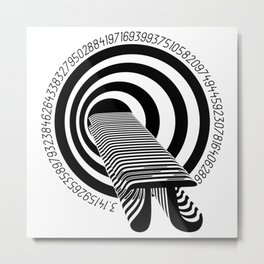 Pi Forever Metal Print