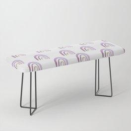 Lilac Lavender Rainbows Bench