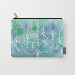 Life is Tough in Teal Carry-All Pouch
