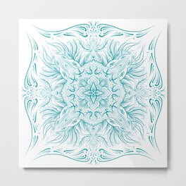 Cold  mandala Metal Print