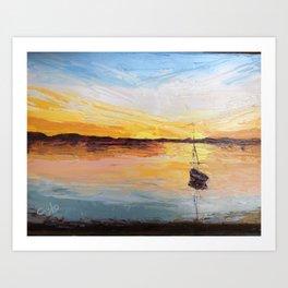 Bayside Sunset Art Print