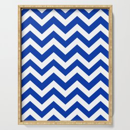 UA blue - blue color -  Zigzag Chevron Pattern Serving Tray