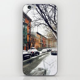 Brooklyn New York City Snow Showers iPhone Skin