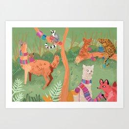 Creative Critters Art Print