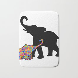 Elephant Autism Awareness Support Bath Mat