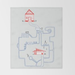 All Roads Lead to Your House Throw Blanket