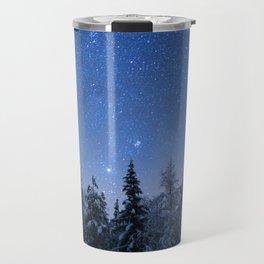 Shimmering Blue Night Sky Stars 2 Travel Mug