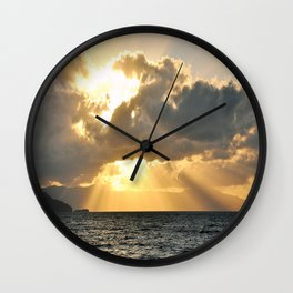 ...And There Was Light Wall Clock