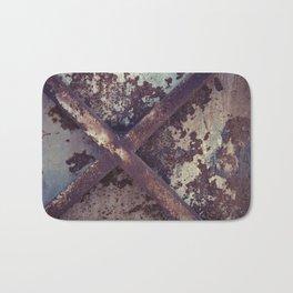 Rusty Metal Cross Bath Mat