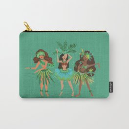 Luau Girls on Mint Carry-All Pouch