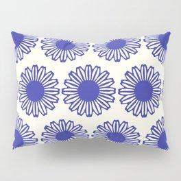 vintage flowers blue  Pillow Sham