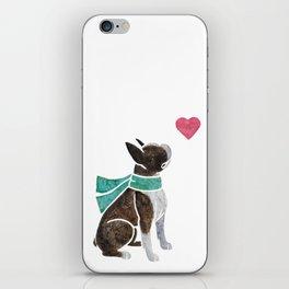 Watercolour Boston Terrier iPhone Skin