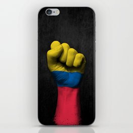 Colombian Flag on a Raised Clenched Fist iPhone Skin
