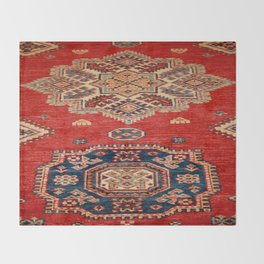Natural Dyed Handmade Anatolian Carpet Throw Blanket