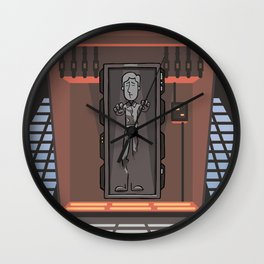 EP6 : Han Solo in Carbonite Wall Clock
