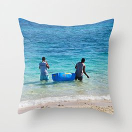 Fiji Days Throw Pillow