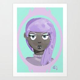 Pastel Vampire Woman Art Print
