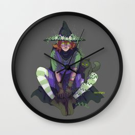 pidge the witch Wall Clock
