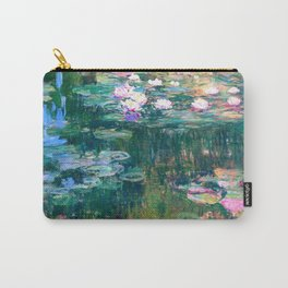 water lilies : Monet Carry-All Pouch