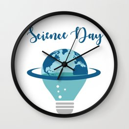 Science makes the world a better place Wall Clock