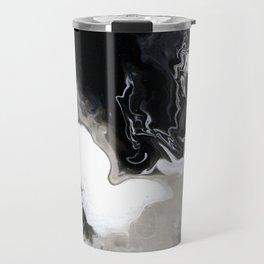 Abstract Acrylic Pour Paint Travel Mug