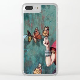 Frida Kahlo Butterfly Clear iPhone Case