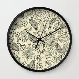 Tropical doodle Wall Clock