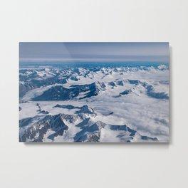 Aerial Glacier Four - Alaska Metal Print