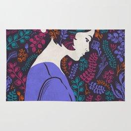 Flowers Girl in Lavender Longsleeve Rug