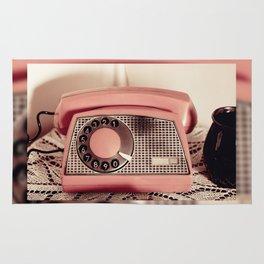 Retro rotary dial phone Rug