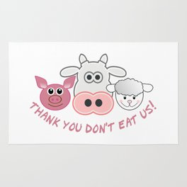 Thank you don't eat us Rug