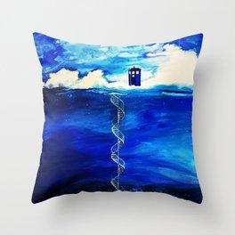 Tardis Cloud Throw Pillow