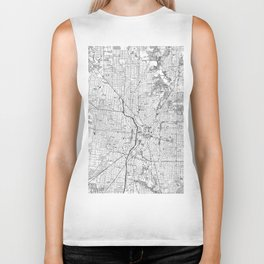 Vintage Map of San Antonio Texas (1953) BW Biker Tank