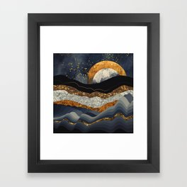 Metallic Mountains Framed Art Print