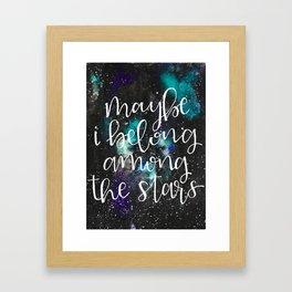 Among the Stars Framed Art Print