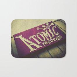 Atomic Records Vintage Sign Bath Mat