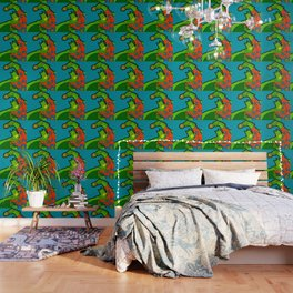 The Caped Vacationer - super hero pop art Wallpaper